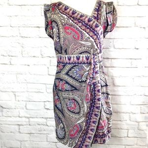 Nanette Lepore Silk Paisley print dress w/pockets.